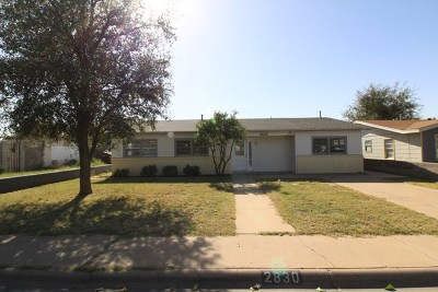 Odessa Single Family Home For Sale: 2830 Brentwood Dr