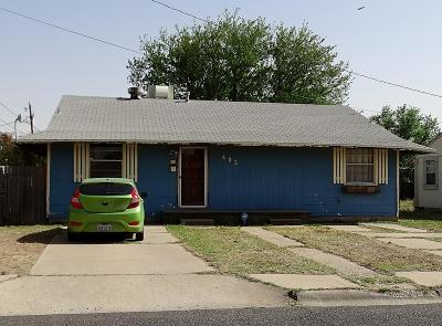 Odessa TX Single Family Home For Sale: $72,000