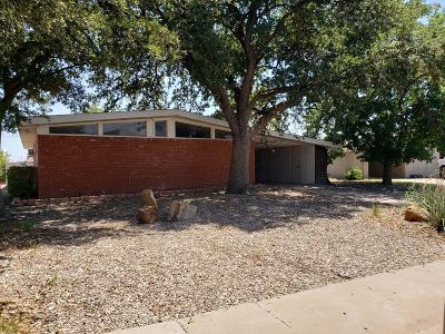 Midland Single Family Home For Sale: 2801 Barkley Ave