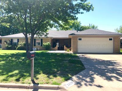 Pampa TX Single Family Home For Sale: $178,900