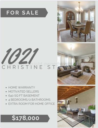 Single Family Home For Sale: 1021 Christine St