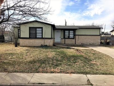 Odessa TX Single Family Home For Sale: $149,000