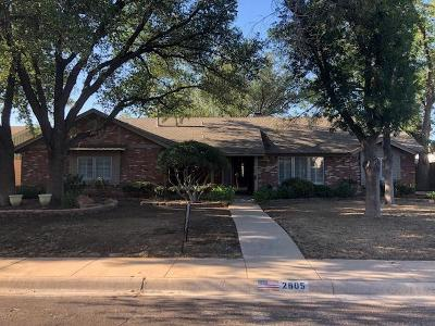 Midland Single Family Home For Sale: 2805 Stutz Dr