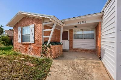 Midland Single Family Home For Sale: 4605 Ric Dr