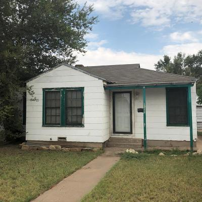 Odessa Single Family Home For Sale: 1211 W 26th St