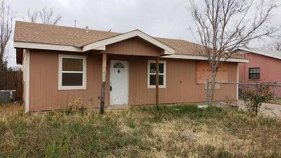 Odessa TX Single Family Home For Sale: $97,500
