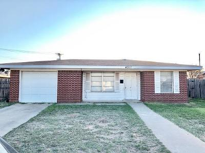 Odessa TX Single Family Home For Sale: $85,000
