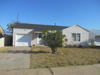 Odessa TX Single Family Home For Sale: $125,000