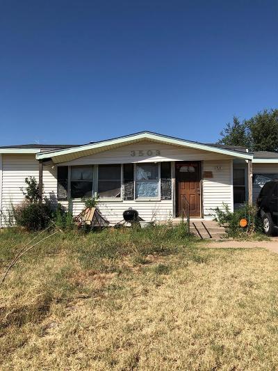Midland Single Family Home For Sale: 3503 Gaston Dr