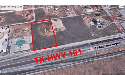 Midland Residential Lots & Land For Sale: Tx-Hwy 191 Frontage