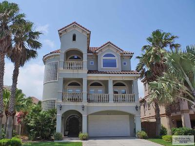 South Padre Island Single Family Home For Sale: 6505 Beach Dr.