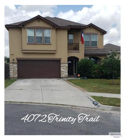 Brownsville Single Family Home For Sale: 4072 Trinity Trail