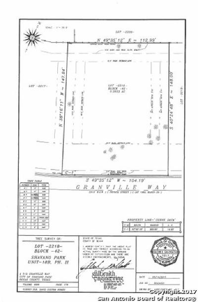 Shavano Park Residential Lots & Land For Sale: 219 Granville Way