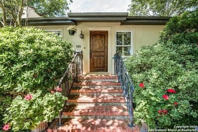 Terrell Hills Single Family Home For Sale: 111 Morningside Dr