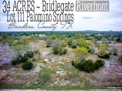Bandera Residential Lots & Land For Sale: Lot 111 Palomino Springs