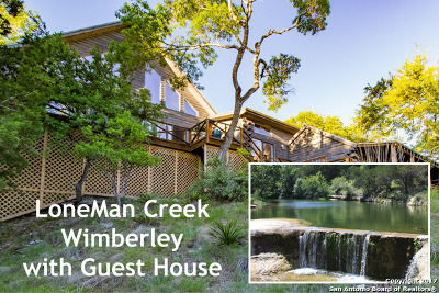 Wimberley Single Family Home Active Option: 601 Deer Lake Rd