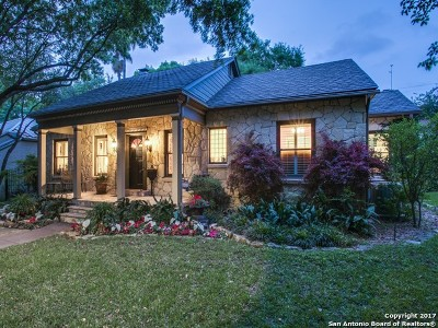 Alamo Heights Single Family Home For Sale: 113 Rosemary Ave