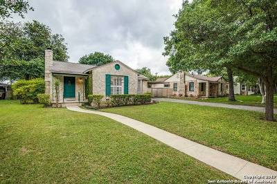 Alamo Heights Single Family Home For Sale: 160 E Elmview Pl
