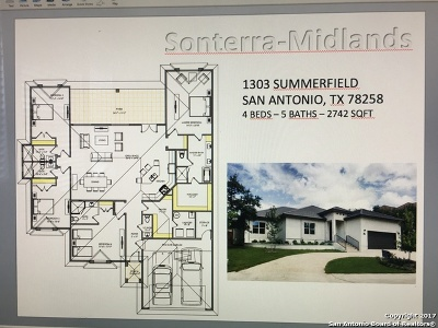 San Antonio Single Family Home Back on Market: 1303 Summerfield