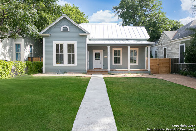San Antonio Single Family Home Back on Market: 929 Burnet St