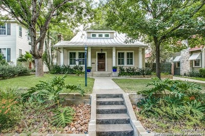 Alamo Heights Single Family Home For Sale: 343 Wildrose Ave