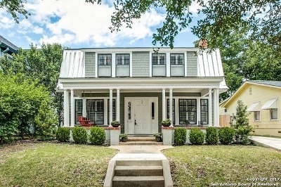 Alamo Heights Single Family Home For Sale: 107 Blue Bonnet Blvd
