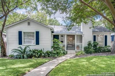 Alamo Heights Single Family Home Price Change: 344 Redwood St
