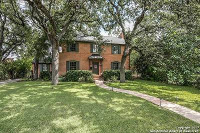 San Antonio Single Family Home For Sale: 249 E Terra Alta Dr