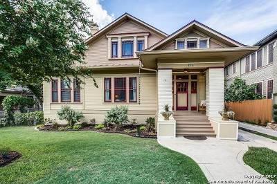 San Antonio Single Family Home Price Change: 122 E French Pl