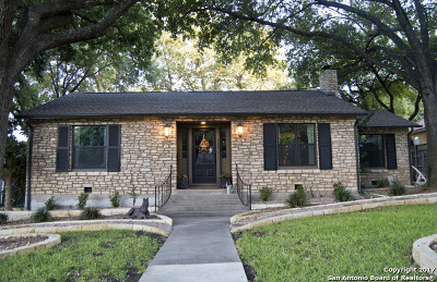 Alamo Heights TX Single Family Home For Sale: $699,000
