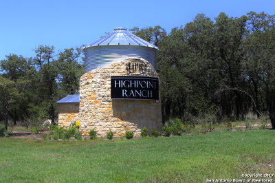 Boerne Residential Lots & Land For Sale: Lot 80 High Point Ranch Rd
