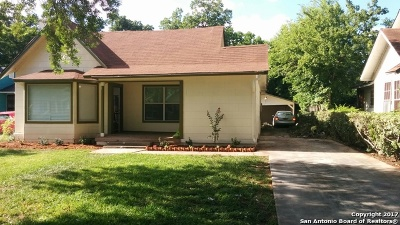San Antonio Single Family Home New: 1827 W Kings Hwy