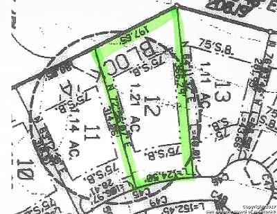 Boerne Residential Lots & Land For Sale: 12 Winged Foot