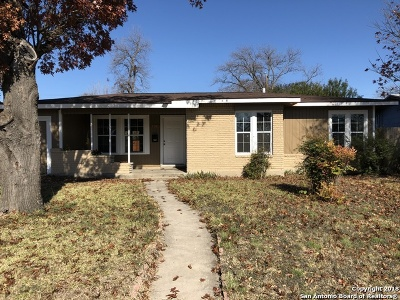 San Antonio Single Family Home For Sale: 131 Dryden Dr