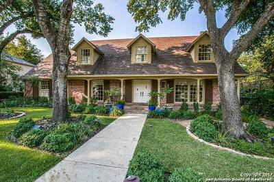 Terrell Hills TX Single Family Home For Sale: $1,075,000