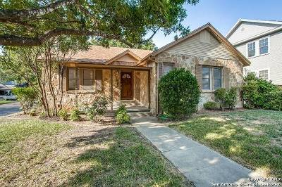 Alamo Heights Single Family Home For Sale: 137 College Blvd