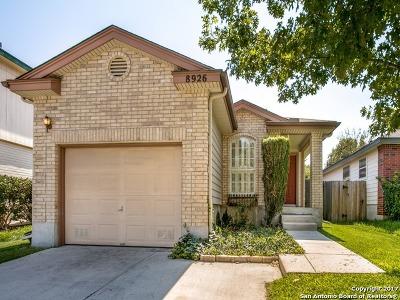 San Antonio Single Family Home New: 8926 Arch Brg