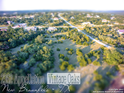 New Braunfels Residential Lots & Land New: 2362 Appellation