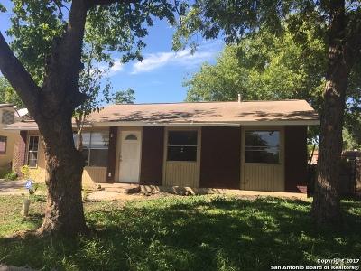 San Antonio Single Family Home New: 5235 Bakersfield St