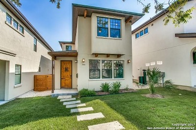 San Antonio Single Family Home New: 346 E Olmos Dr