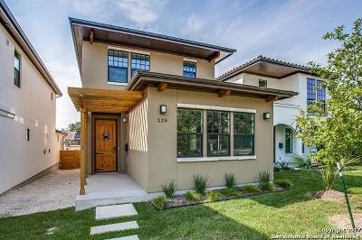 San Antonio Single Family Home New: 338 E Olmos Dr