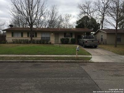 San Antonio Single Family Home New: 7822 Sugarfoot Dr