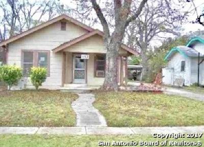 San Antonio Single Family Home New: 113 Hot Wells Blvd