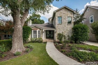 Alamo Heights Single Family Home Price Change: 309 Corona Ave