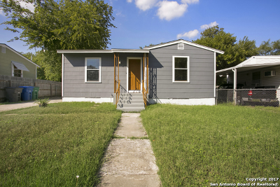 Bexar County Single Family Home Back on Market: 123 Harwood Dr