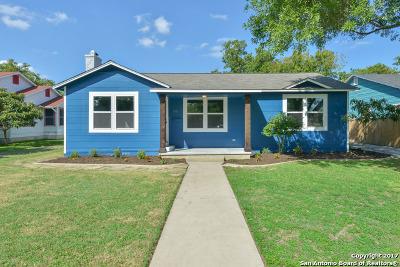 San Antonio Single Family Home New: 1843 W Kings Hwy