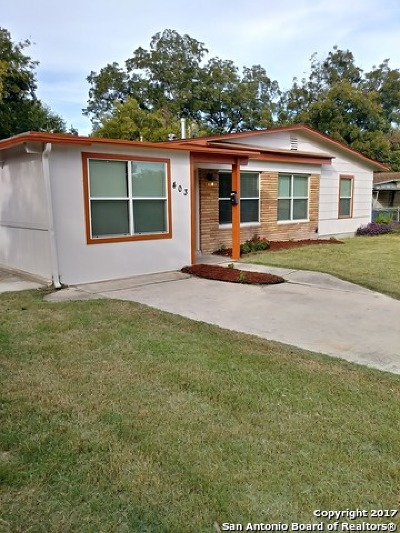 San Antonio Single Family Home New: 403 Creath Pl