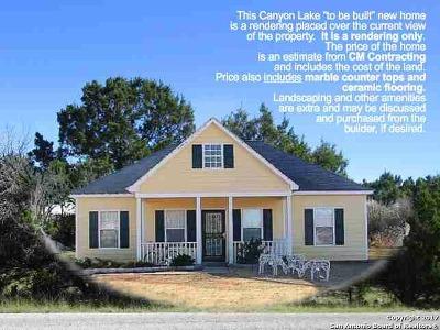 Canyon Lake Single Family Home For Sale: 468 Canyon Edge