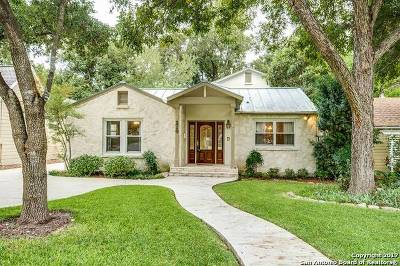 Alamo Heights Single Family Home Price Change: 210 College Blvd