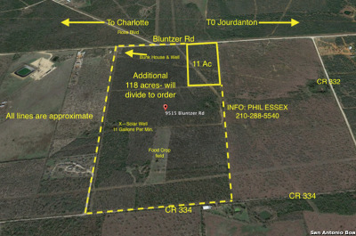 Atascosa County Residential Lots & Land Back on Market: 11 Acres Bluntzer Rd